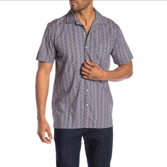 Onia Other - Onia Vacation Shirt in Deep Sky Geo Button Down
